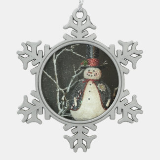 The Mayor Snowflake Pewter Christmas Ornament