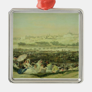 The Meadow at San Isidro, 1788 (oil on canvas) Christmas Ornament