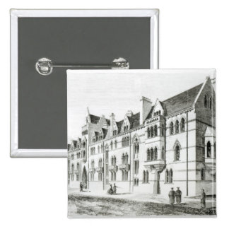 The Meadow Buildings, Christ Church, Oxford 15 Cm Square Badge