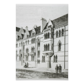 The Meadow Buildings, Christ Church, Oxford Poster