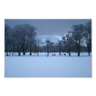 The Meadows Under Snow Photo Print