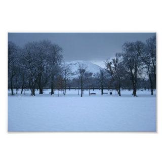 The Meadows Under Snow Photo Print