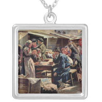 The Meal, 1875 Silver Plated Necklace