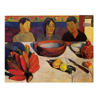 'The Meal' - Paul Gauguin Postcard