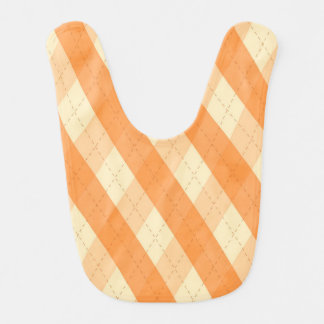 The MeanClique Orange Argyle Baby Bib