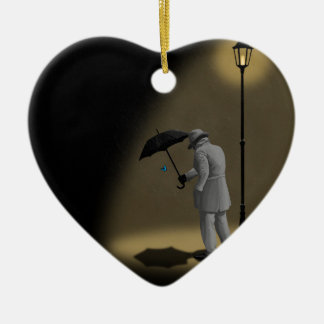 The meaning of life ceramic heart decoration