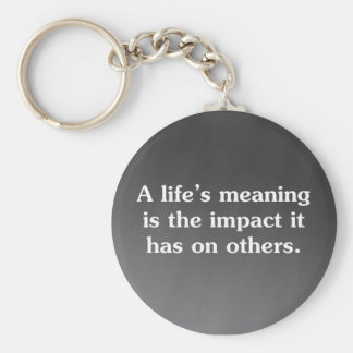 The meaning of life is helping others basic round button key ring