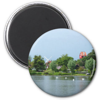 The Meare, Thorpness, Suffolk 6 Cm Round Magnet
