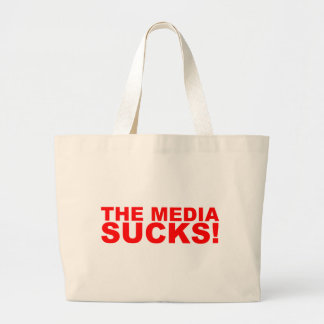The Media Sucks! Canvas Bags