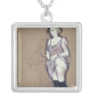 The Medical Inspection: Blonde Prostitute, 1894 Silver Plated Necklace