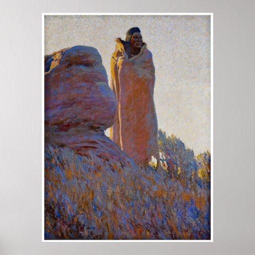 The Medicine Robe by Maynard Dixon 1915 Poster