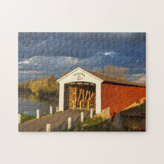 The Medora Covered Bridge Built In 1875 Jigsaw Puzzle