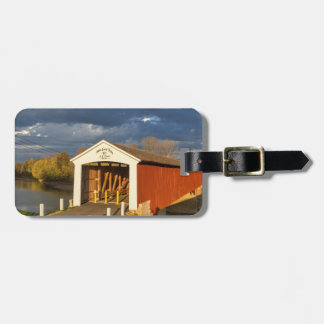 The Medora Covered Bridge Built In 1875 Luggage Tag