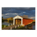 The Medora Covered Bridge Built In 1875 Poster