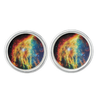 The Medusa Nebula Hubble Outer Space Photo Cufflinks