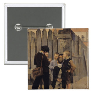 The Meeting, 1884 15 Cm Square Badge
