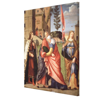The Meeting at the Golden Gate with Saints, 1515 ( Canvas Print