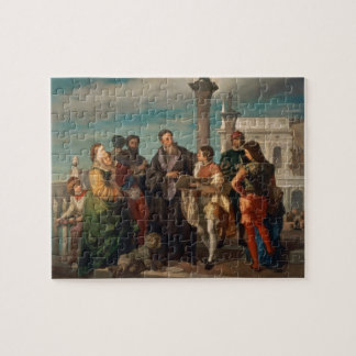 The Meeting Between Titian (1488-1576) and Verones Jigsaw Puzzle