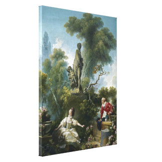 The Meeting, Jean-Honoré Fragonard Stretched Canvas Prints