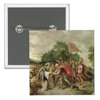 The Meeting of Abraham and Melchizedek 15 Cm Square Badge