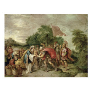 The Meeting of Abraham and Melchizedek Postcard
