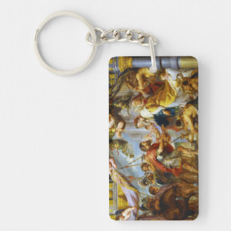 The Meeting of Abraham and Melchizedek Rubens art Double-Sided Rectangular Acrylic Key Ring