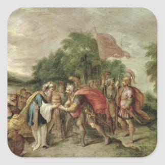 The Meeting of Abraham and Melchizedek Square Sticker