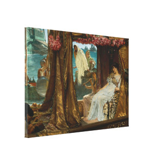 The Meeting of Antony and Cleopatra by Alma-Tadema Stretched Canvas Prints