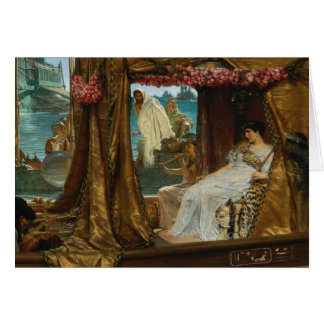 The Meeting of Antony & Cleopatra Greeting Card