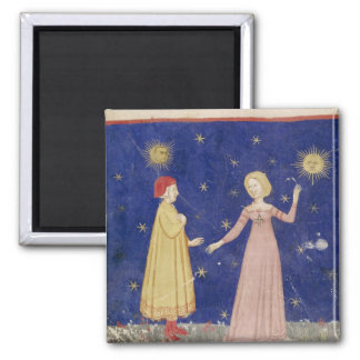 The Meeting of Dante  and Beatrice Square Magnet