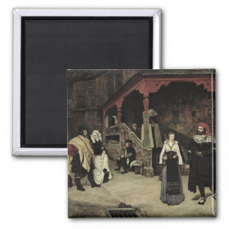 The Meeting of Faust and Marguerite, 1860 Square Magnet