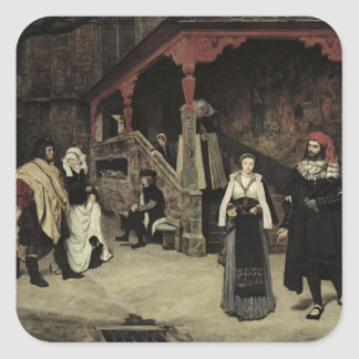 The Meeting of Faust and Marguerite, 1860 Square Sticker