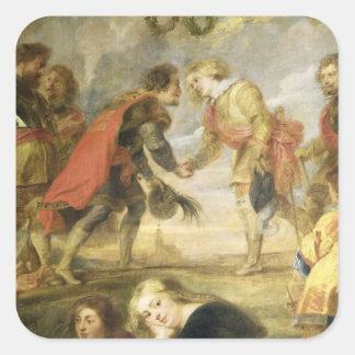 The Meeting of Ferdinand II Square Sticker