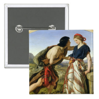 The Meeting of Jacob and Rachel, 1853 15 Cm Square Badge