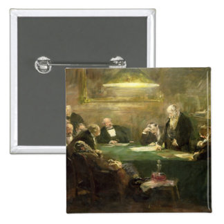 The Meeting of the Board of Directors, 1900 15 Cm Square Badge