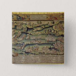 The Meeting of the Two Armies 15 Cm Square Badge