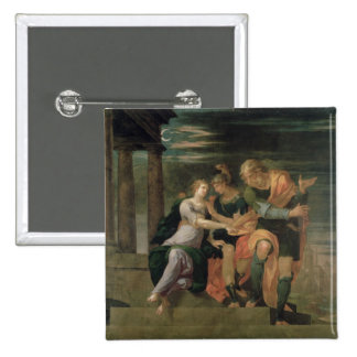 The Meeting of Theagenes and Chariclea 15 Cm Square Badge