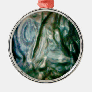 The melting portrait christmas ornament