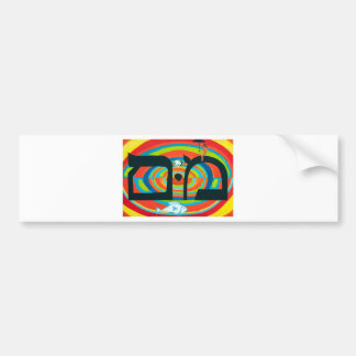 The Mem Letter - Hebrew Alphabet Bumper Sticker