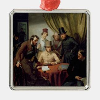The Members of the Hamburg Artist's Club, 1840 2 Christmas Ornament