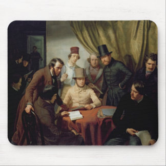 The Members of the Hamburg Artist's Club, 1840 2 Mouse Mat