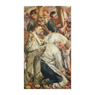 The Men, left panel from The Age of the Worker Canvas Print