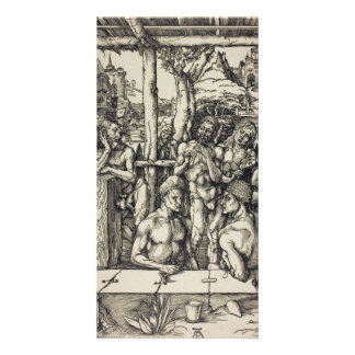 The Mens Bath by Albrecht Durer Personalized Photo Card