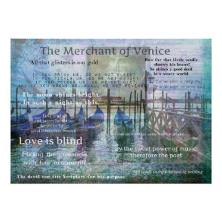The Merchant of Venice Shakespeare quotes Poster