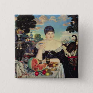 The Merchant's Wife at Tea, 1918 15 Cm Square Badge