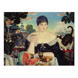The Merchant's Wife at Tea, 1918 Postcard