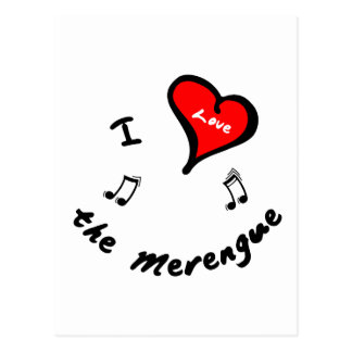 the Merengue Items - I Heart the Merengue Postcards
