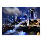The Merlion and Singapore Skyline Postcard