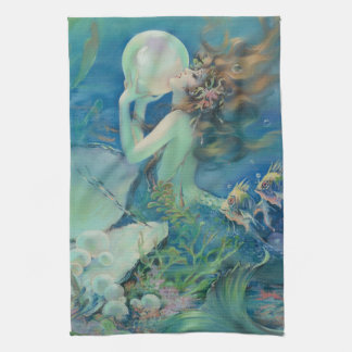 The Mermaid by Henry Clive Tea Towel