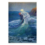 The Mermaid by Howard Pyle, 1919. Poster